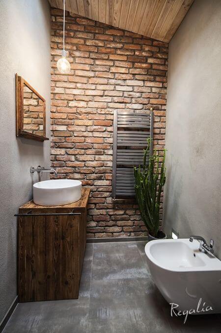 banheiro decorado rústico
