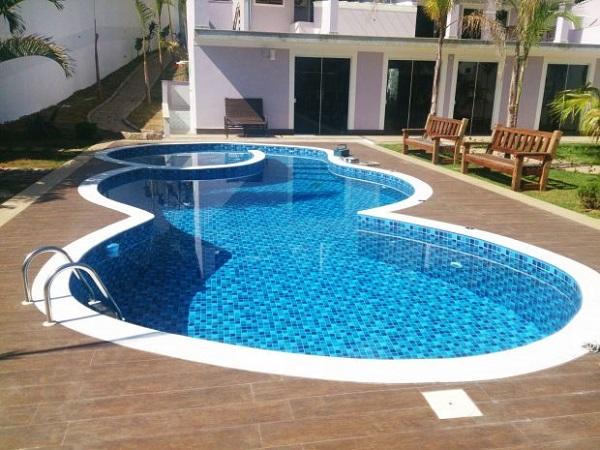 piscina de vinil orgânica