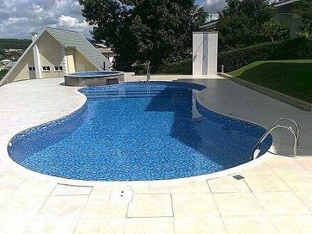 piscina orgânica de vinil