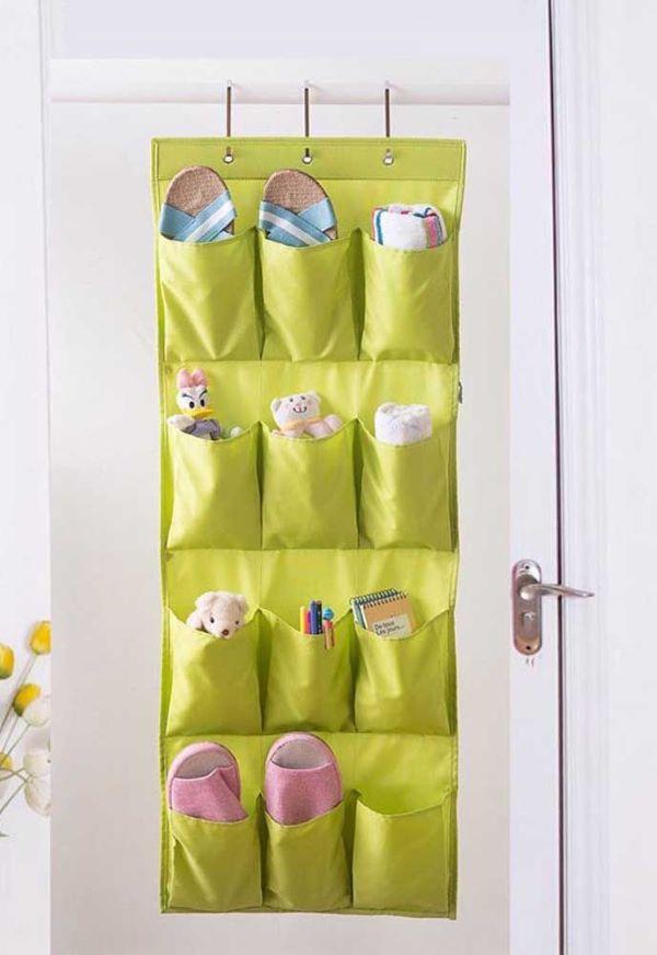 sapateira de porta verde