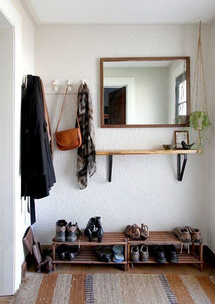 decoração simples para hall