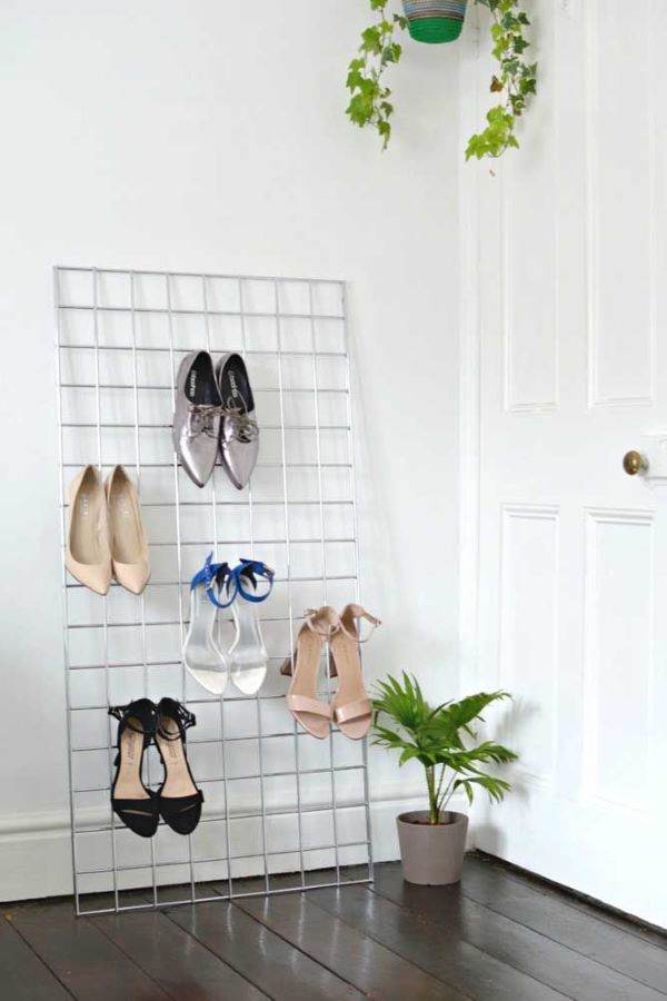gradil como porta sapatos