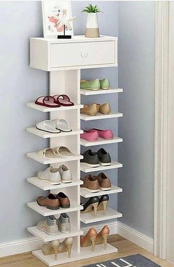 movel com prateleiras para sapatos