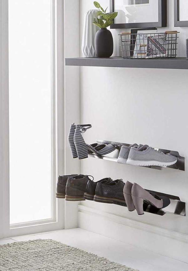 organização moderna de sapatos