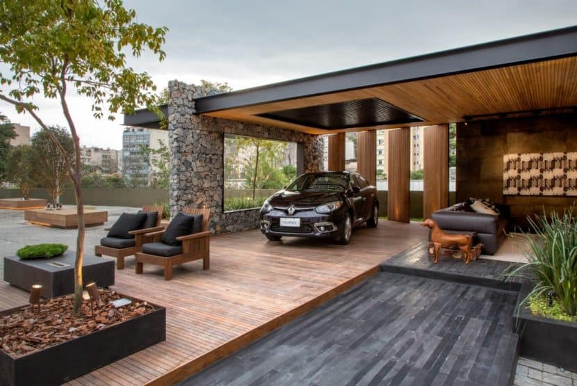 casa moderna em metal