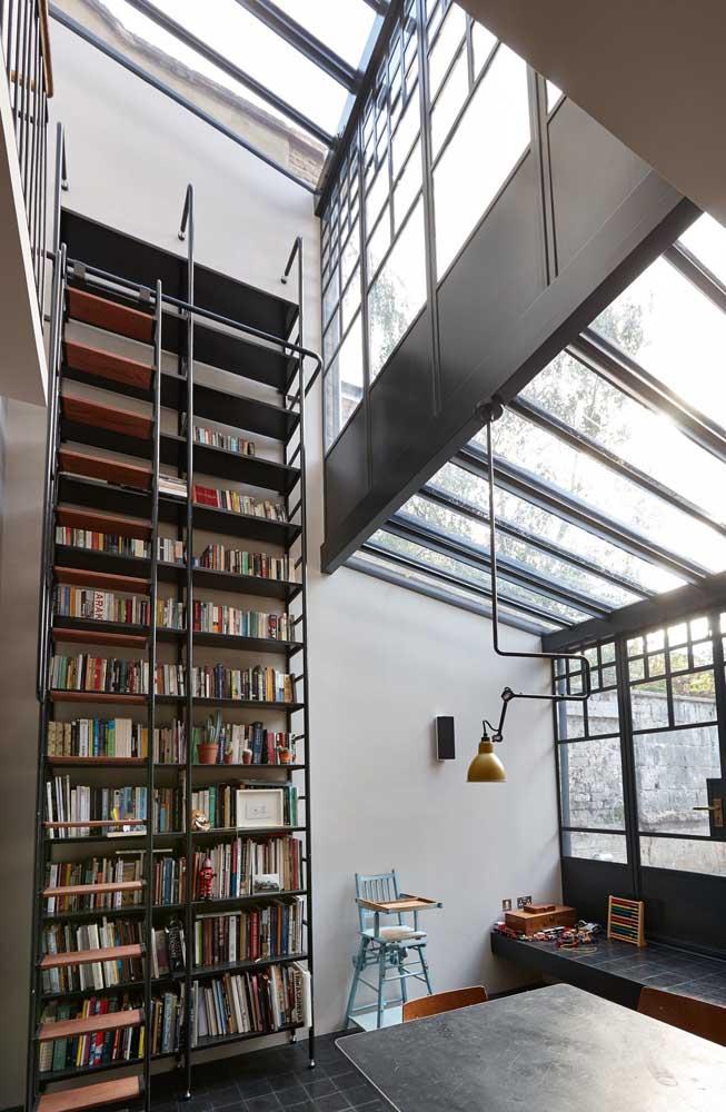 casa moderna com metal