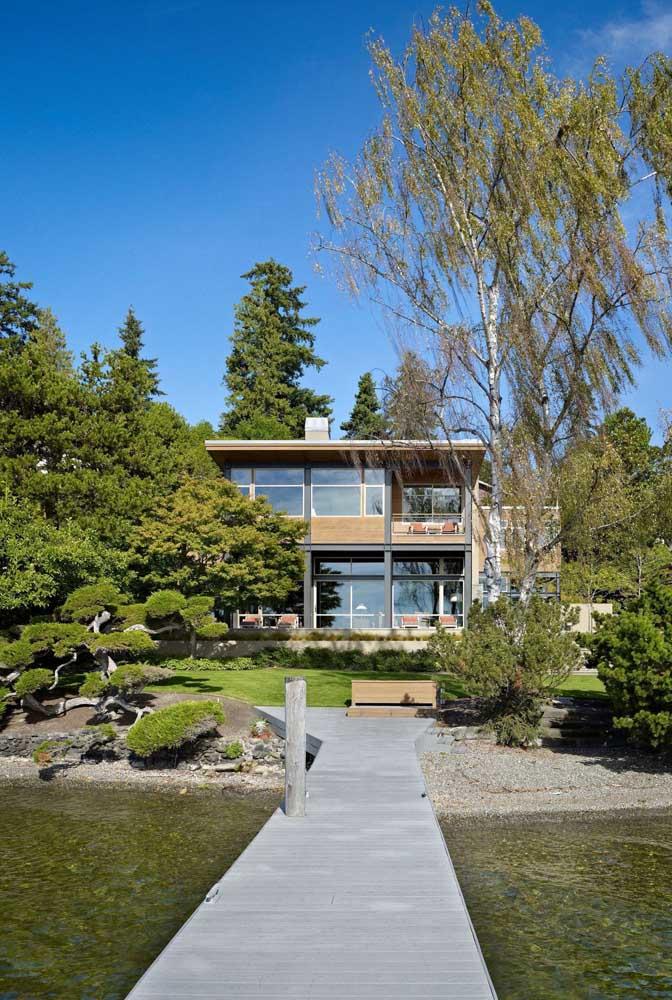 casa moderna com steel frame