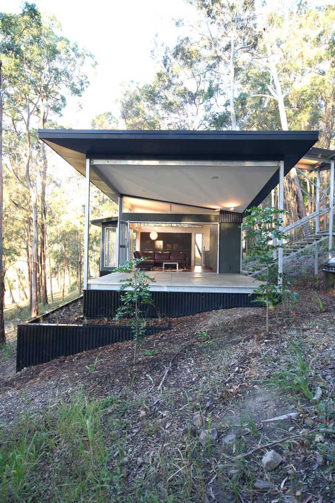 casa pequena de steel frame