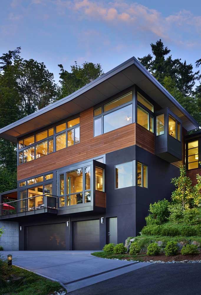 casa em meio a natureza