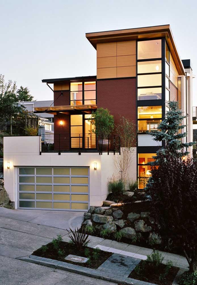 casa moderna com estrutura
