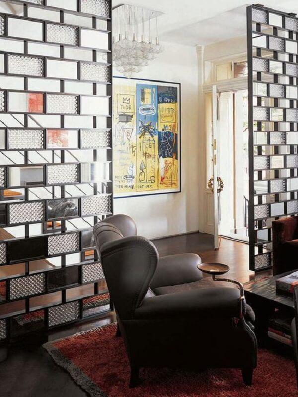 divisoria de ambiente com tijolo de vidro