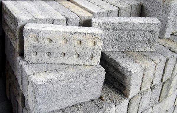 peças de tijolo