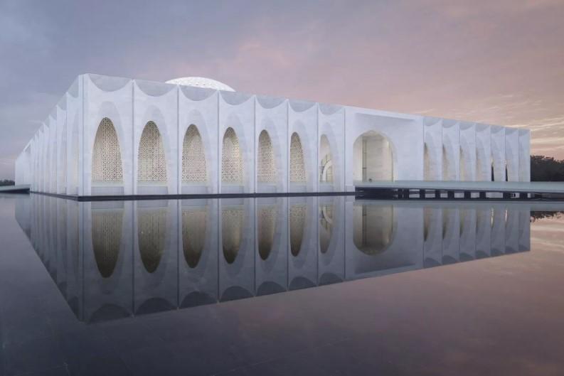 construção moderna em arcos