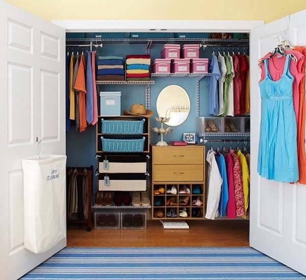 faça você mesmo closet pequeno