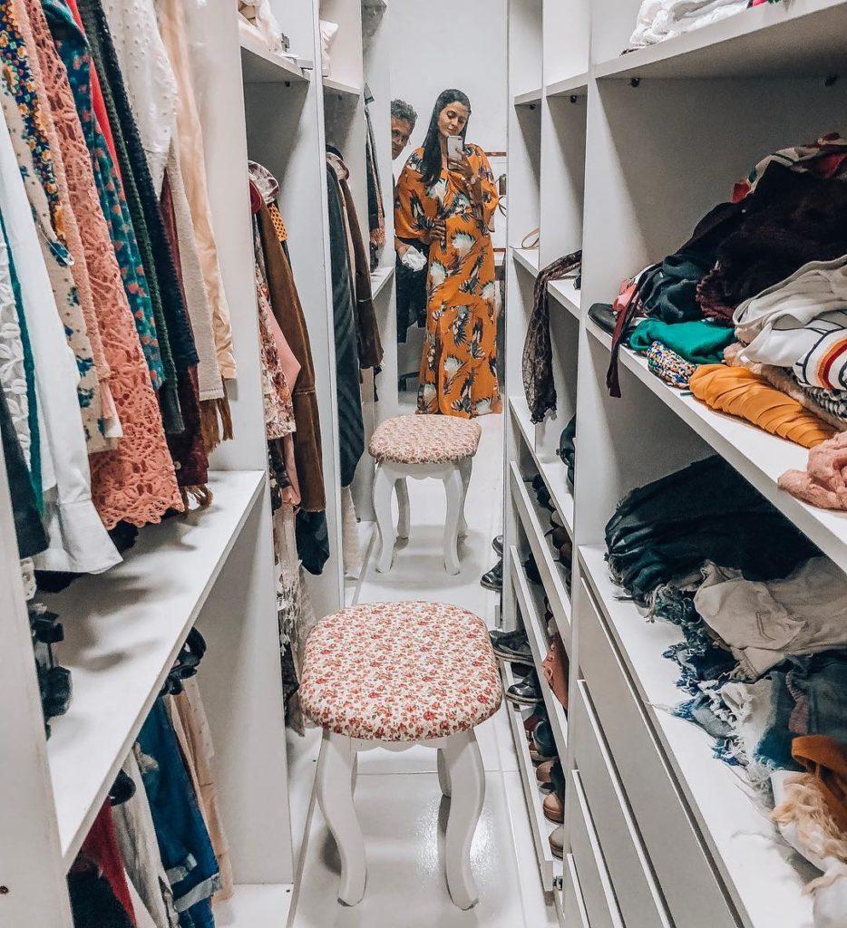 pequeno closet em casa