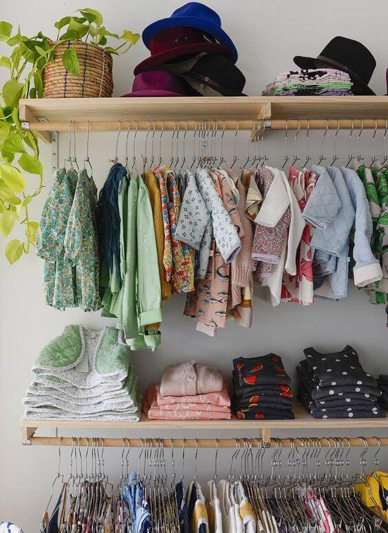 espaços para roupas