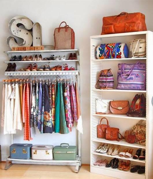 roupas bem organizadas