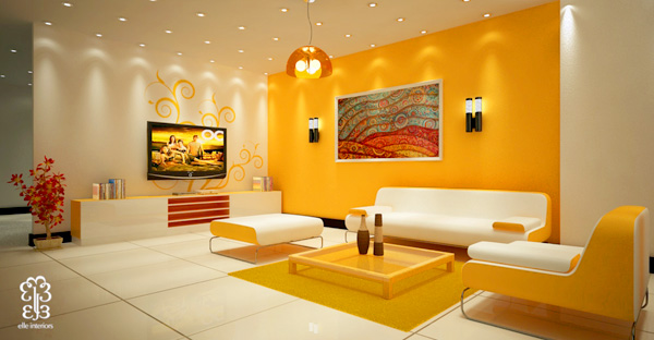 sala amarela e branca