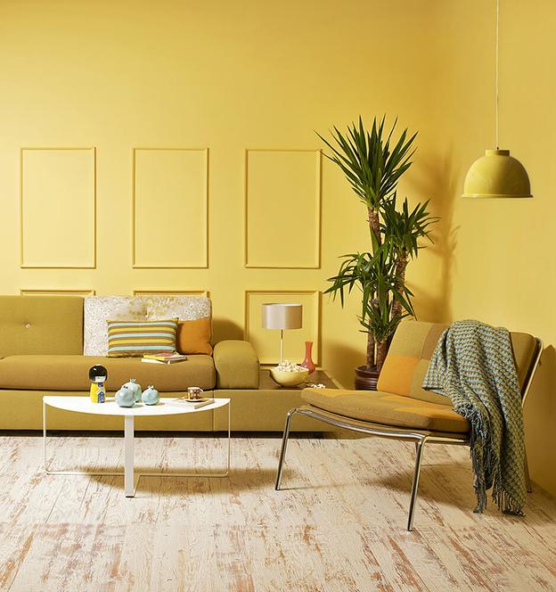 amarelo claro na sala