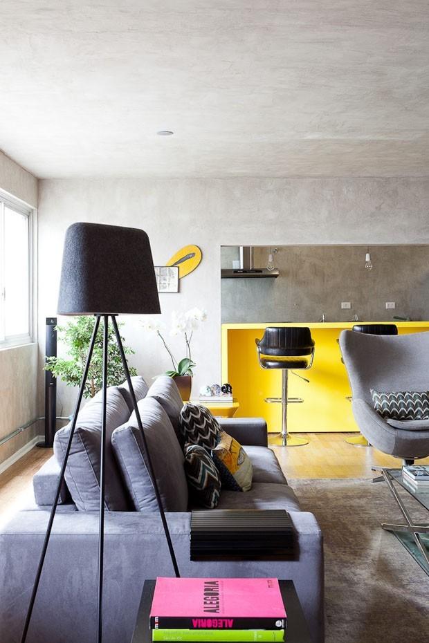 mobiliário amarelo