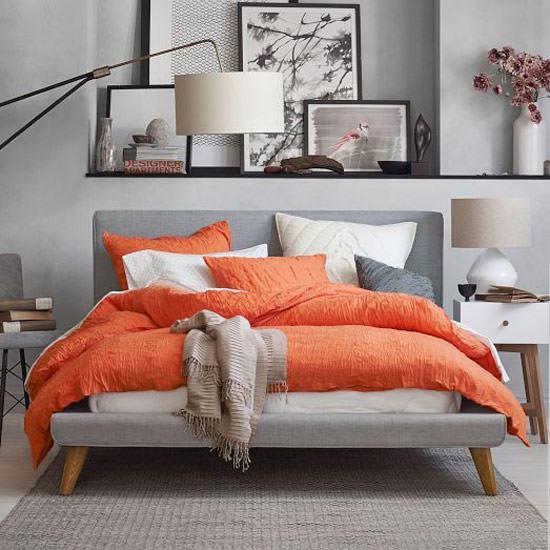 roupa de cama laranja