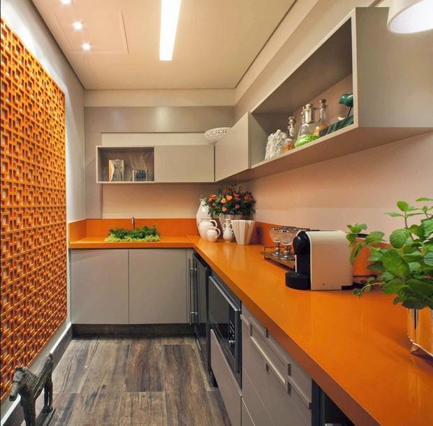 pedra da cozinha laranja
