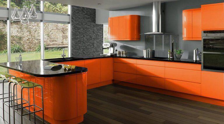 movel de cozinha laranja