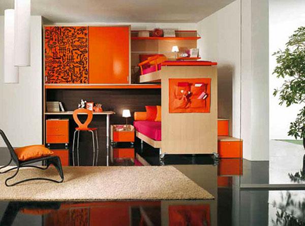 detalhes em laranja