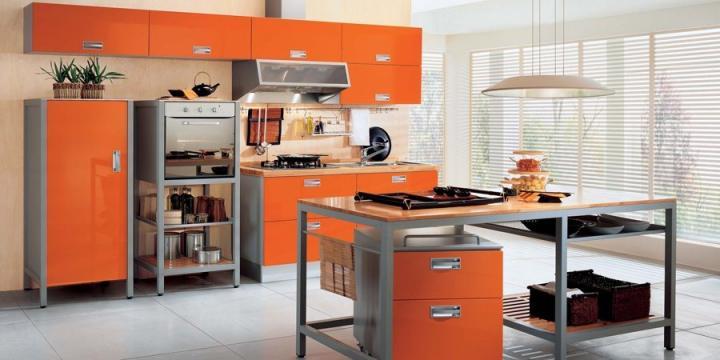 mobiliário em laranja
