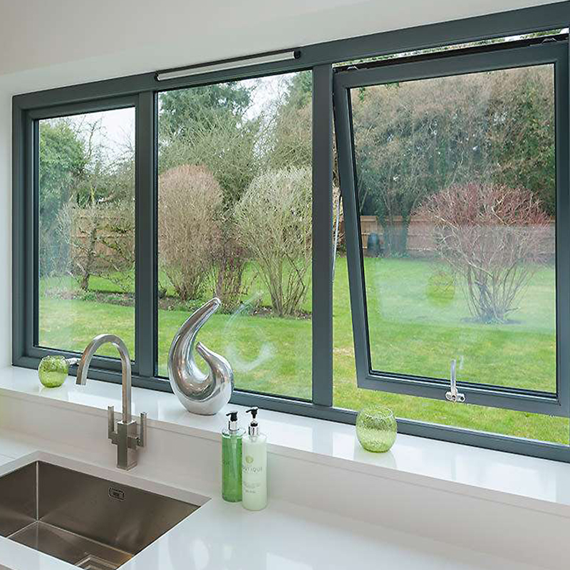 janela basculante esquadria preta