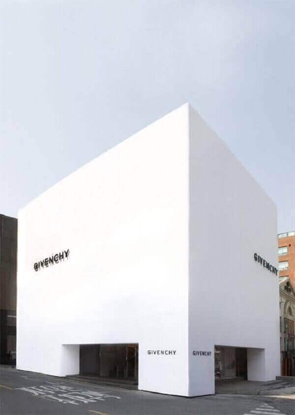 fachada minimalista branca