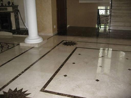 piso com granito marrom