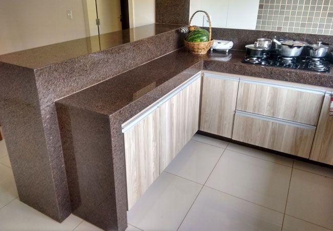 cozinha decorada com pedra