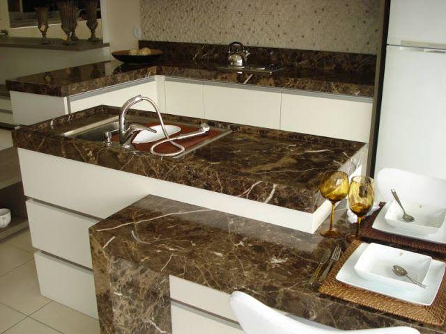 granito marrom na cozinha
