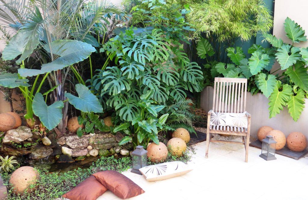 jardim tropical para descanso