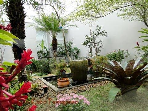 jardim tropical decorado