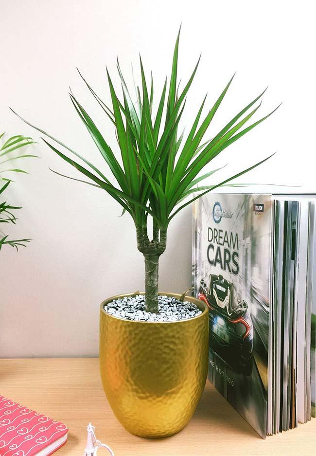 vaso dourado decorativo