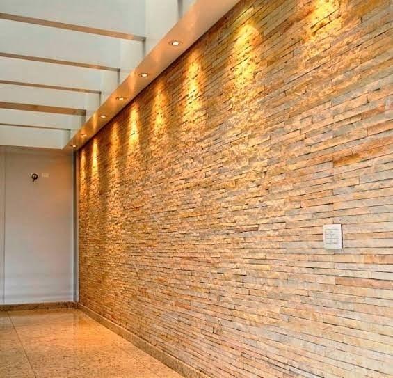 pedra filete na parede