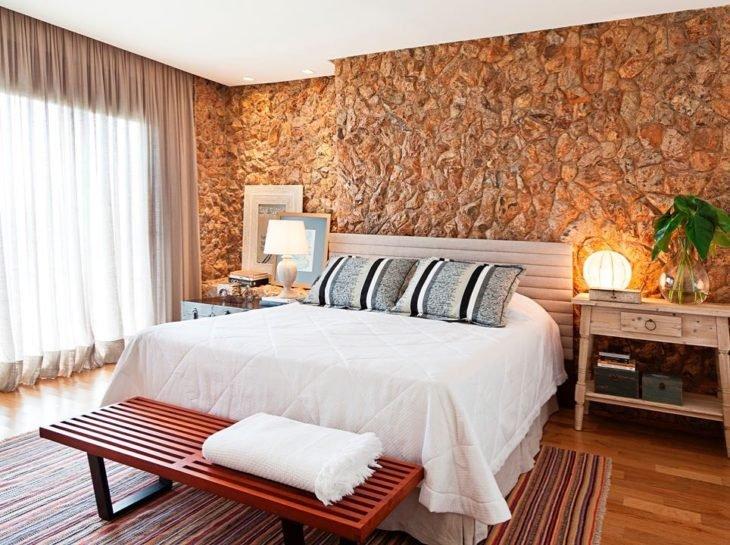 quarto com decoração rúsica