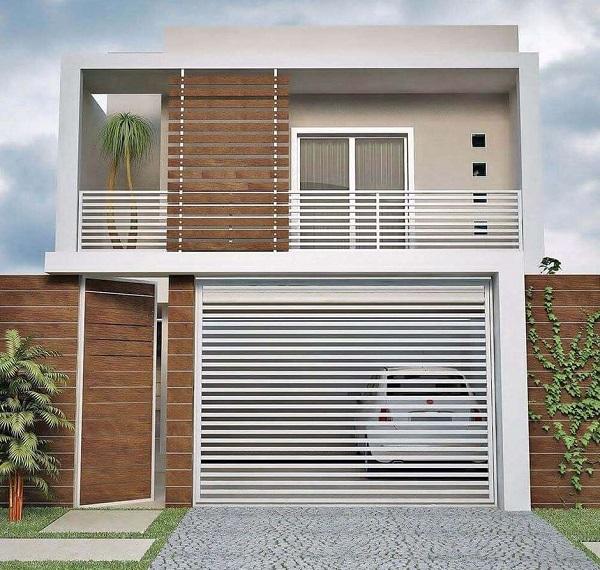 casa moderna simples com platibanda