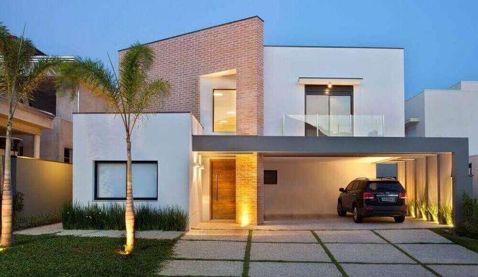 fachada com tijolo