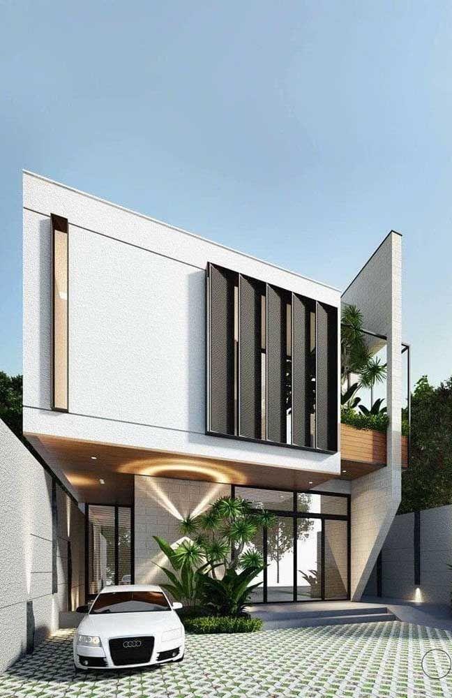fachada cheia de modernidade
