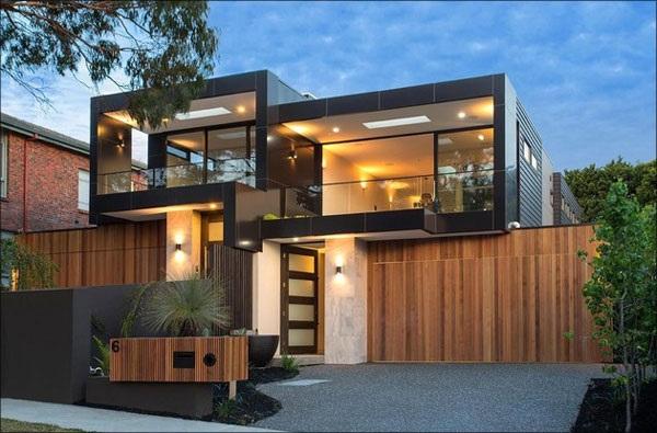 casa moderna em caixote