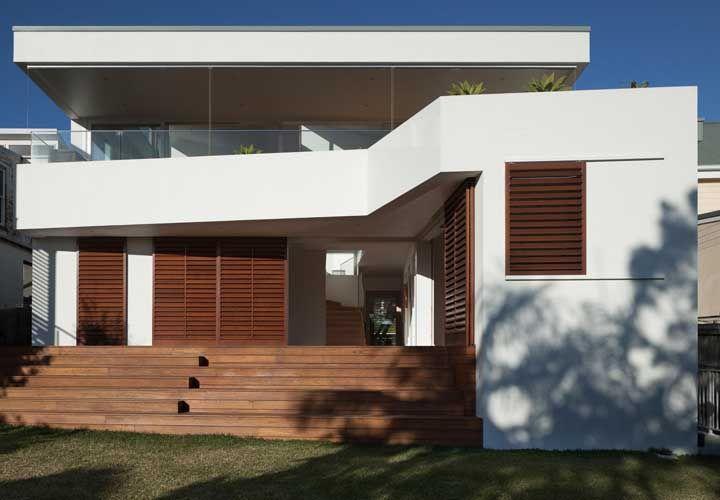 fachada reta residencial