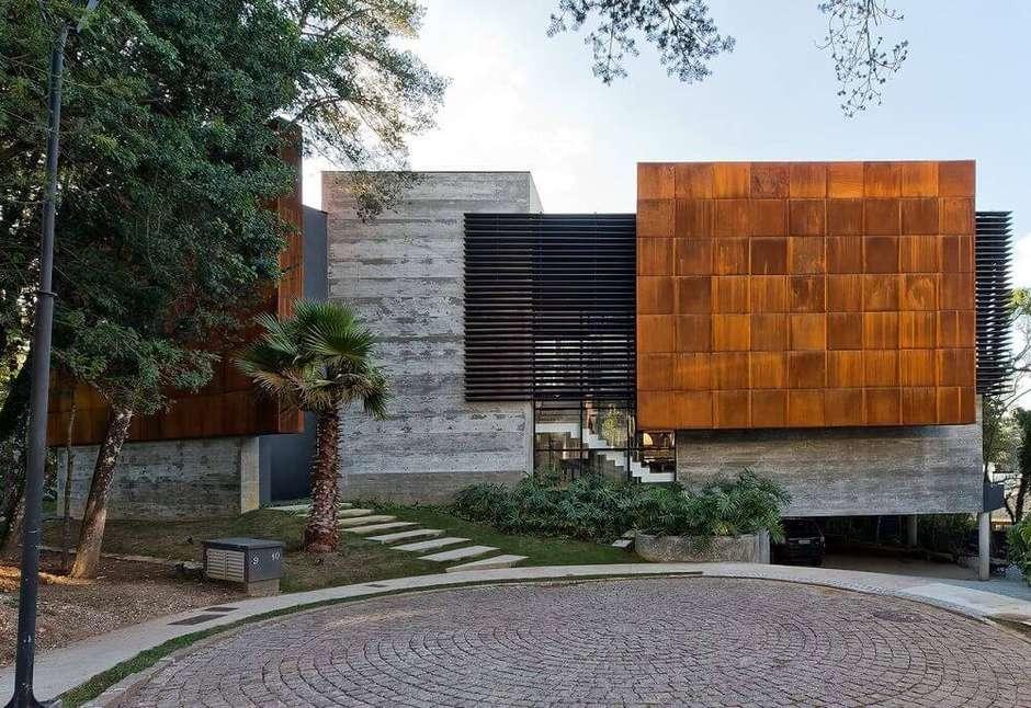 casa moderna com revstimento