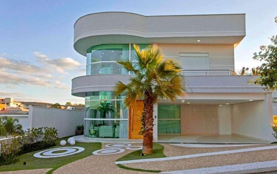 fachada com detalhe circular
