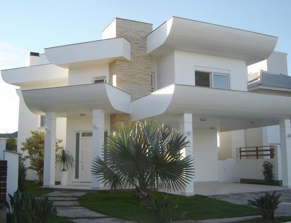 fachada diferenciada branca
