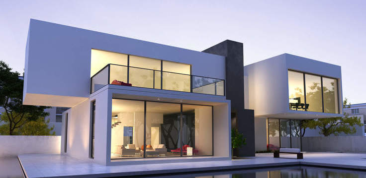 fachada geomética moderna