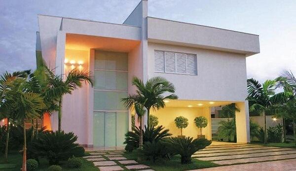 sobrado residencial branco
