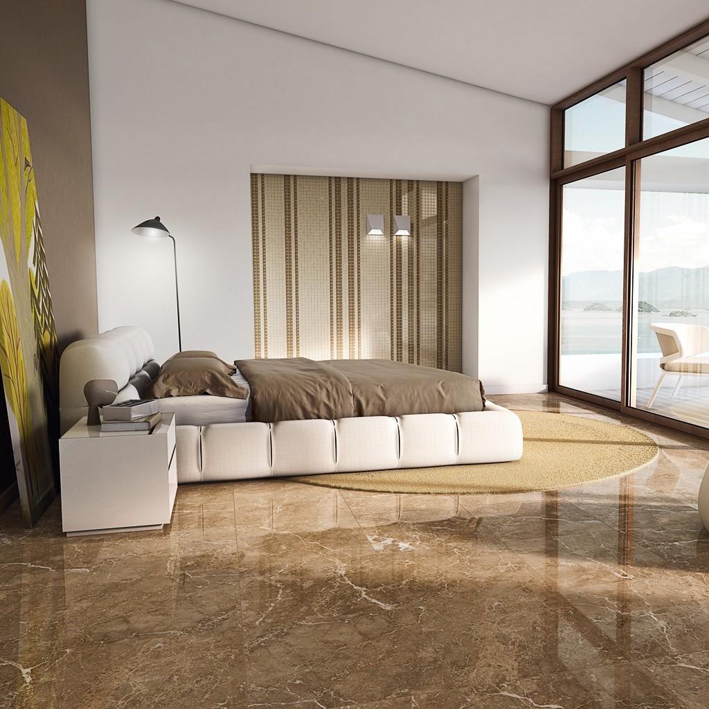 piso marmorizado marrom